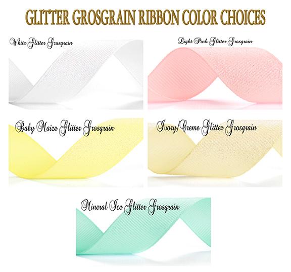 Glitter Grosgrain Ribbon Choices Custom Ribbon