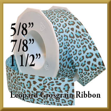 052 Leopard Grosgrain Product Image