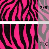 338-616 Hot Pink Neon Zebra Grosgrain Ribbon