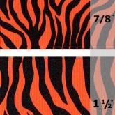 338-629 Tangerine Neon Zebra Grosgrain Ribbon