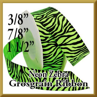 338 Neon Zebra Grosgrain Product Image