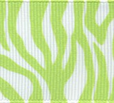 341-502 Lime Zebra Fest Grosgrain Ribbon