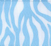 341-602 Light Blue Zebra Fest Grosgrain Ribbon