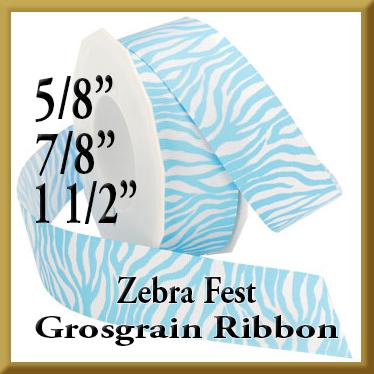 341 Zebra Fest Grosgrain Product Image