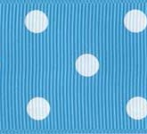 3908-340 Wholesale Turquoise/White Dots Grosgrain Dots Grosgrain Ribbon