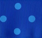 3908-352 Wholesale Electric Blue/Copen Dots Grosgrain Dots Grosgrain Ribbon