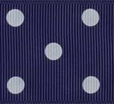 3908-371 Wholesale Navy/White Dot Grosgrain Dots Grosgrain Ribbon