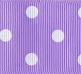 3908-430 Wholesale Light Orchid/White Dots Grosgrain Dots Grosgrain Ribbon