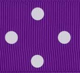 3908-465 Wholesale Purple/White Dots Grosgrain Dots Grosgrain Ribbon