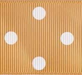3908-826 Wholesale Raw Silk/White Dots  Grosgrain Dots Ribbon