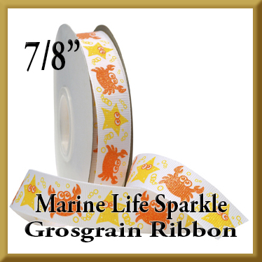 7521 Marine Life Sparkle Glitter Grosgrain Product Image