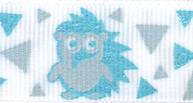 7524-602 Glittered Hedgehog Grosgrain Ribbon