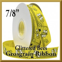 7532 Glittered Bees Grosgrain Product Image
