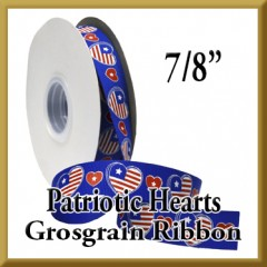 7536 Patriotic Hearts Grosgrain Product Image