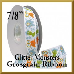 7542 Glitter Monsters Grosgrain Product Image