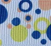 801-620 Orange Double Dots Grosgrain Ribbon