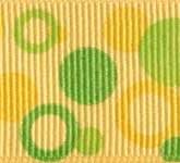 801-629 Tangerine Double Dots Grosgrain Ribbon
