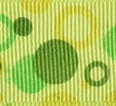 801-872 Light Olive Double Dots Grosgrain Ribbon