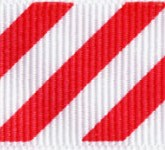 806-609 Red Candy Cane Stripes Grosgrain Ribbon