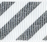 806-631 Silver Candy Cane Stripes Grosgrain Ribbon