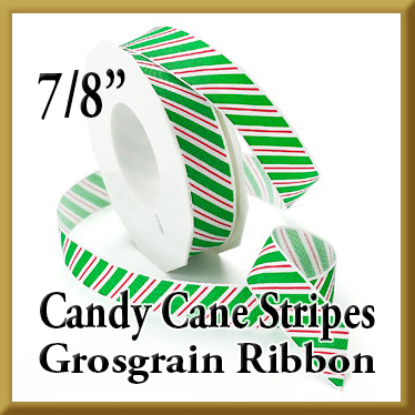806 Candy Cane Stripes Grosgrain Product Image