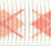 898-020 Lt. Pink Argyle Grosgrain Ribbon