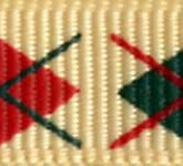 898-137 Green/Red Argyle Grosgrain Ribbon