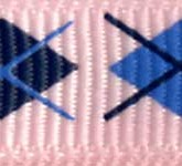 898-222 Pink Argyle Grosgrain Ribbon