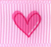 922-022 Pink Tender Hearts Grosgrain Ribbon