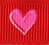 922-609 Red Tender Hearts Grosgrain Ribbon