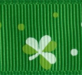 932-607 Irish Clover Grosgrain Ribbon