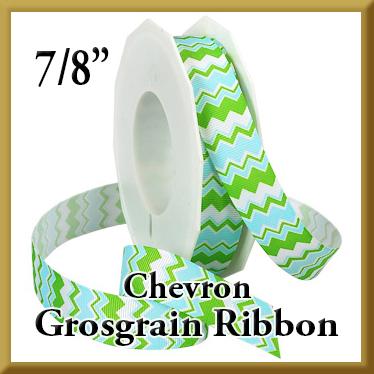 980 Chevron Grosgrain Ribbon Product Image
