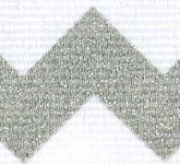 981-124 Platinum Sugar Chevron Glitter Grosgrain Ribbon