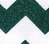 981-137 Evergreen Sugar Chevron Glitter Grosgrain Ribbon