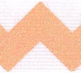 981-409 Coral Glaze Sugar Chevron Glitter Grosgrain Ribbon