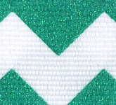 981-607 Emerald Sugar Chevron Glitter Grosgrain Ribbon