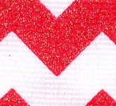 981-609 Red Sugar Chevron Glitter Grosgrain Ribbon