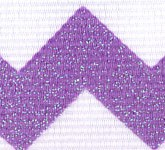 981-610 Grape Sugar Chevron Glitter Grosgrain Ribbon