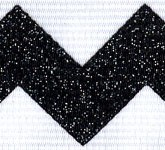 981-613 Black Sugar Chevron Glitter Grosgrain Ribbon