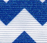 981-614 Royal Blue Sugar Chevron Glitter Grosgrain Ribbon