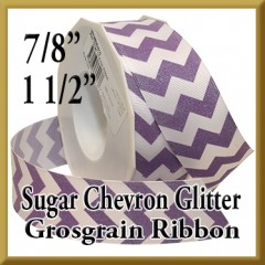 981 Sugar Chevron Glitter Grosgrain Product Image