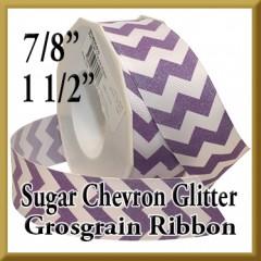 981 Sugar Chevron Glitter Grosgrain Product Image