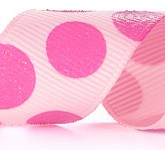 988-022 Pink/Pink Sugar Dots Grosgrain Ribbon