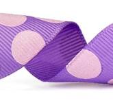 988-111 Lavender/Pink Sugar Dots Grosgrain Ribbon