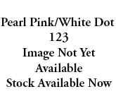 988-123 Pearl Pink/White Dot Sugar Dots Glitter Grosgrain Ribbon