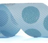 988-308 Topaz/Blue Sugar Dots Glitter Grosgrain Ribbon