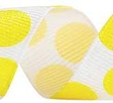 988-344 White/Daffodil Sugar Dots Glitter Grosgrain Ribbon