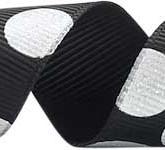 988-913 Black/White Sugar Dots Glitter Grosgrain Ribbon