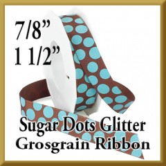 988 Sugar Dots Glitter Grosgrain Product Image