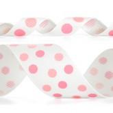 989-117 Lt. Pink/Sherbet Dazzle Dots Glitter Grosgrain Ribbon